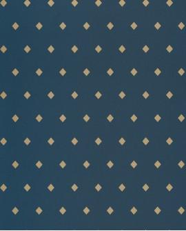 Papier peint floral Casélio Mystery Talisman Bleu et doré MYY101626409
