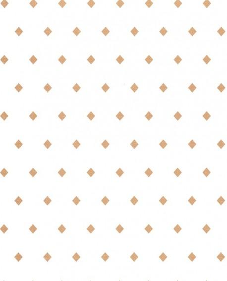 Papier peint floral Casélio Mystery Talisman Blanc et doré MYY101620031