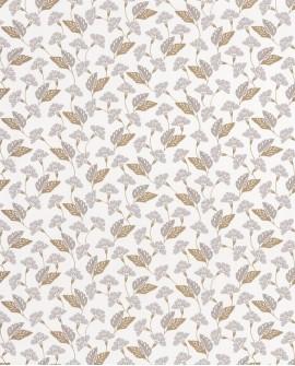 Papier peint floral Casélio Mystery Poem Gris et doré MYY101639125