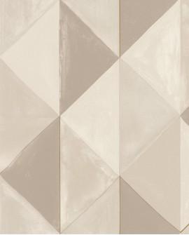 Papier peint géométrique Green Life Plénitude Beige or GNL101701021
