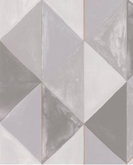 Papier peint géométrique Green Life Plénitude Gris or GNL101709020