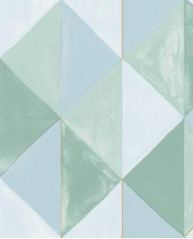 Papier peint géométrique Green Life Plénitude Vert or GNL101707024
