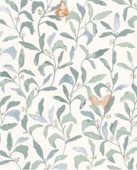 Papier peint à fleurs Green Life Sweet Bleu GNL101716023