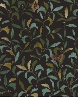 Papier peint à fleurs Green Life Sweet Noir GNL101717122