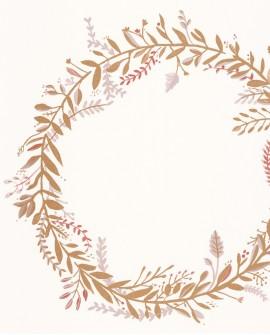 Papier peint botanique Green Life Harmony Rose or GNL101684026
