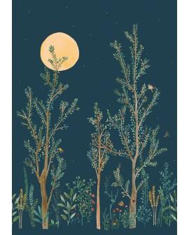 Panoramique botanique Green Life Midnight Walk Bleu nuit GNL101666520