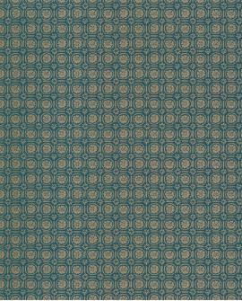 Papier peint vintage Casélio Mystery Custom Bleu canard MYY101606606