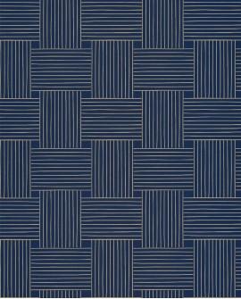 Papier peint vintage Casélio Mystery Longevity Bleu indigo dore MYY101646328