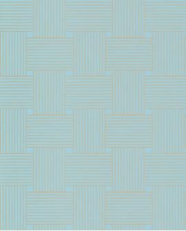 Papier peint vintage Casélio Mystery Longevity Bleu indien dore MYY101646103