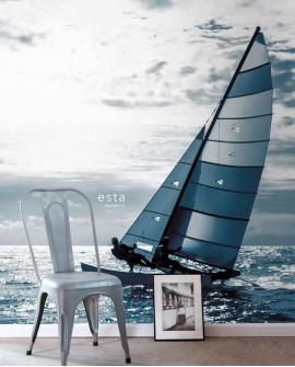 Papier peint XXL Esta Home Photowall XL² Catamaran Bleu 158846