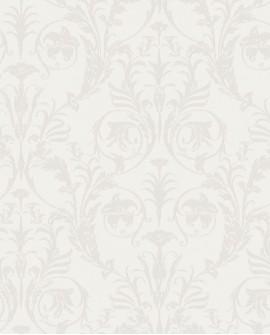 Papier peint arabesque Casadeco Montségur Trianon Beige et blanc