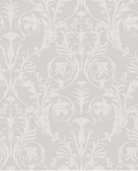 Papier peint arabesque Casadeco Montségur Trianon Blanc et gris