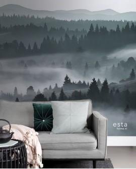Panoramique Esta Home Photowalls XL² Montagnes brumeuses 158910
