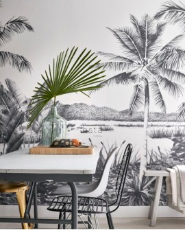 Panoramique Esta Home Photowalls XL² Paysage tropical noir 158901