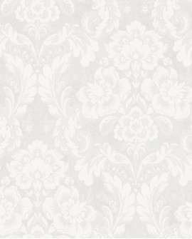 Papier peint arabesque Casadeco Montségur Demeure Blanc