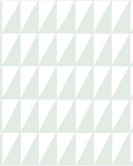 Papier peint enfants Let's Play! Esta Home Triangles Vert menthe 139075