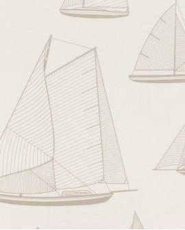 Tissu maritime Casadeco Rivage Armada Beige RIVG84241107