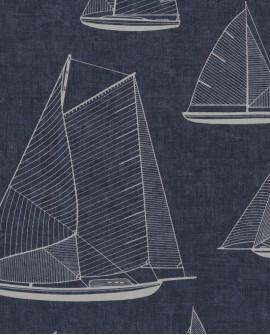 Tissu maritime Casadeco Rivage Armada Bleu RIVG84246505