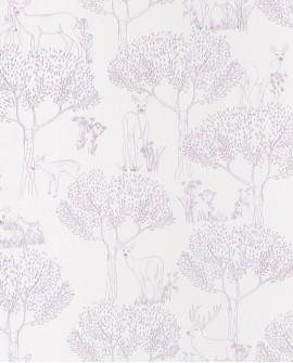 Papier peint enfant Casélio Pretty Lili Biches Violet PRLI69225005