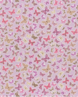 Tissu enfants Casélio Pretty Lili Papillons Rose Violet PRLI69284050