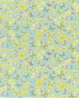 Tissu enfants Casélio Pretty Lili Papillons Vert PRLI69287007