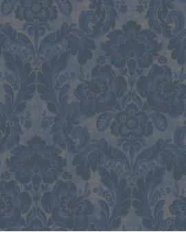 Papier peint arabesque Casadeco Montségur Demeure Bleu MTSE86066474