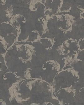 Papier peint Casadeco Montségur Arabesques Noir doré MTSE80799672
