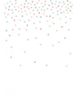 Panoramique enfants Let's Play! Esta Home Confettis Rose, vert et bleu 158931