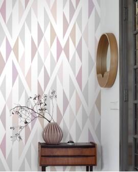 Panoramique géométrique Esta Home Photowalls XL² Losanges Vieux rose 158903