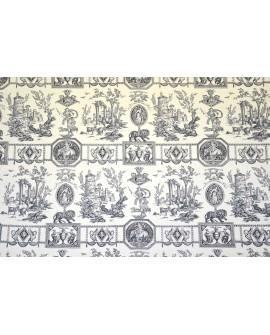 Tissu Toiles de Jouy Casal Diane Chasseresse Noir 30276/0