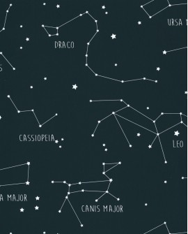 Papier peint enfant Our Planet Caselio Constellations Bleu nuit OUP101916918