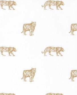 Papier peint enfant Our Planet Caselio Eye of the Tiger Ocre OUP101962105