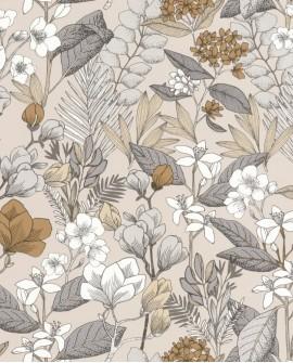 Papier peint fleurs Caselio Flower Power May Beige FLP101851099