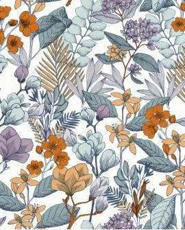 Papier peint fleurs Caselio Flower Power May Parme FLP101855060