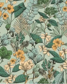 Papier peint fleurs Caselio Flower Power May Vert Emeraude FLP101857129