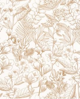 Papier peint fleurs Caselio Flower Power May Doré FLP101852010