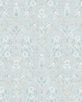Papier peint Lutèce Abby Rose 4 Paisley Bleu Aqua AF37728