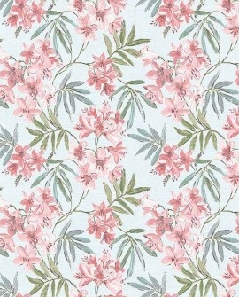 Papier peint floral Lutèce Abby Rose 4 Jasmin Bleu aqua AF37725