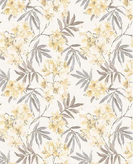 Papier peint floral Lutèce Abby Rose 4 Jasmin jaune AF37726