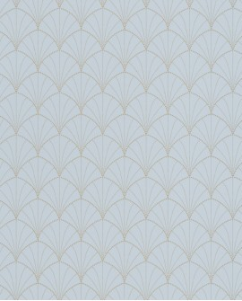 Papier peint art déco Caselio The Place to be(d) Stardust Bleu gris PTB101826029
