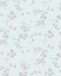 Papier peint floral Lutèce Abby Rose 4 Chic Rose Gris fond aqua AF37706