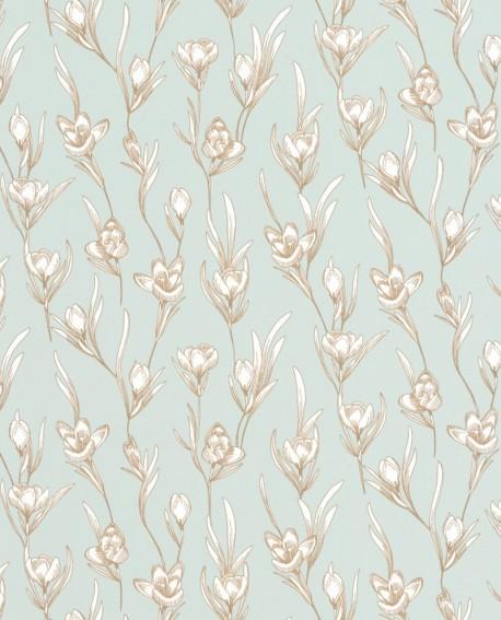 Papier peint fleur Caselio The Place to be(d) Day Dream Vert amande PTB101787024
