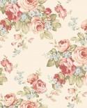 Papier peint floral Lutèce Abby Rose 4 Grand floral rouge AB27614