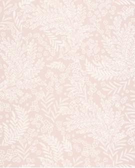 Papier peint fleurs Caselio Flower Power September rose nude irisé FLP101894040