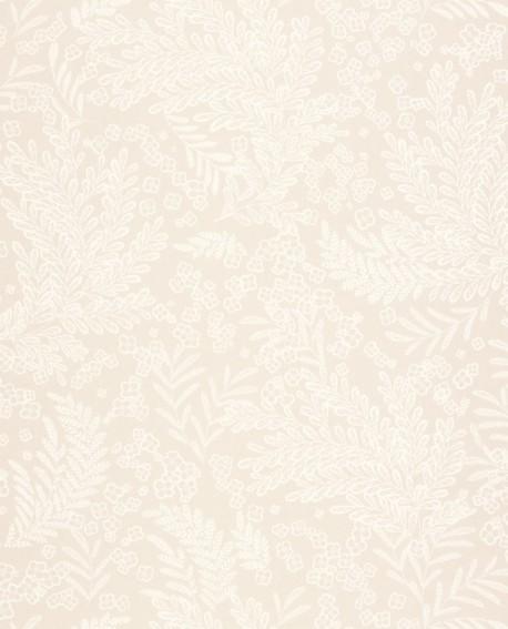 Papier peint fleurs Caselio Flower Power September beige irisé FLP101891010