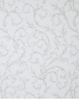 Tissu Casadeco Toile de Jouy Fontainebleau Arabesques Bleu FONS81786104