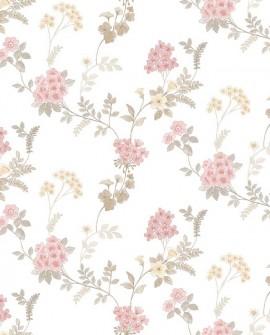 Papier peint floral Lutèce Abby Rose 4 Guirlande de fleurs Rose AF37732
