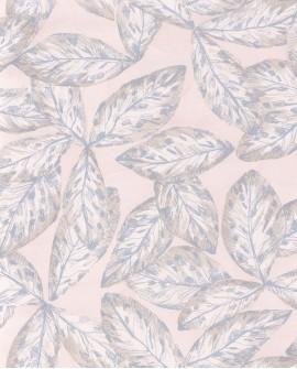 Papier peint tropical Jardins Suspendus Casadéco Hevea Bleu gris JDSP85256118