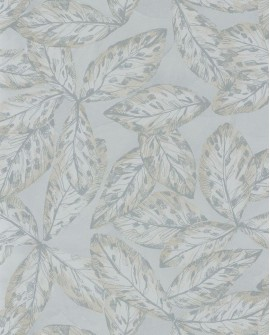 Papier peint tropical Jardins Suspendus Casadéco Hevea Vert argile JDSP85257106
