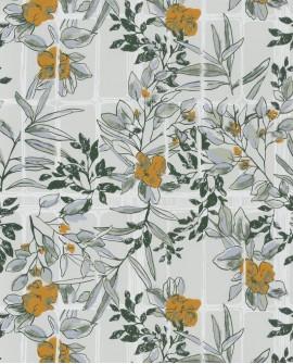 Papier peint Jardins Suspendus Casadéco Camelia Ocre JDSP85232241